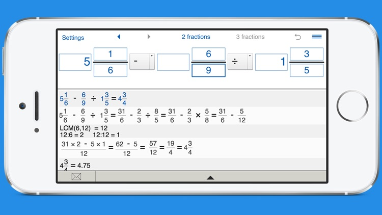 Fraction calculator with steps screenshot-3