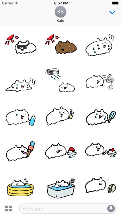 Summer Hamster Stickers for iMessage by Design 73