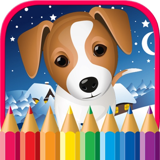 Puppy Dog Coloring Pages Animals Painting Drawing By Rorenzo Doni