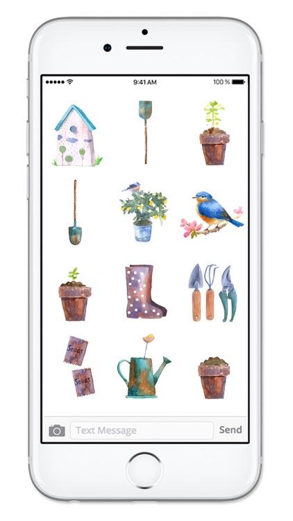 Springtime Gardening Watercolor Sticker Pack screenshot-4