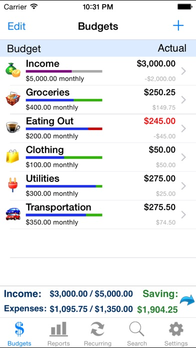 Screenshot for Ace Budget 3 in United States App Store