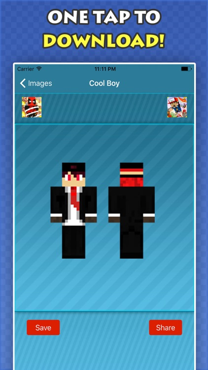 New COOL BOY SKINS FREE For Minecraft PE & PC screenshot-3