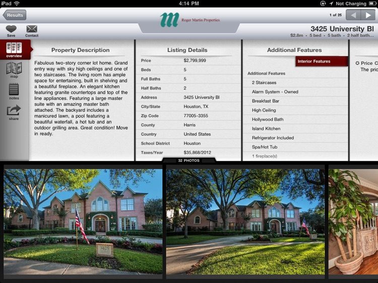 West University Real Estate for iPad