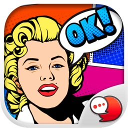 Pop Art Chat Stickers Emoji Keyboard By ChatStick