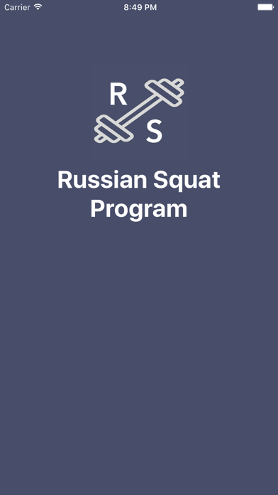 Russian Squat Program screenshot one