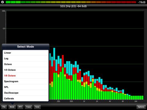 PocketRTA HD - Spectrum Analyzer screenshot 1