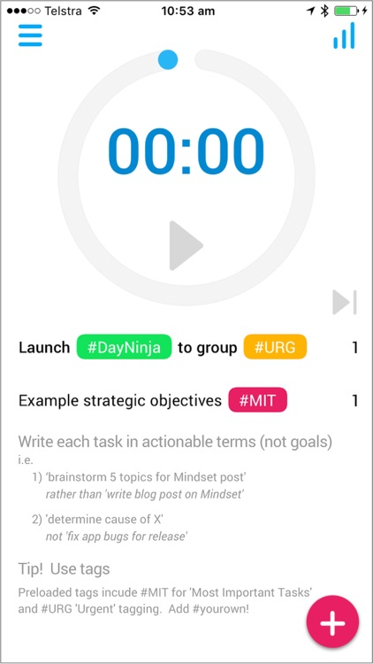 DayNinja - Focus Timer | To Do Task List | Mindful