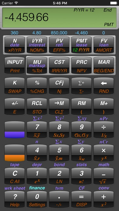 10BII Calc HD screenshot1