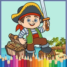 Activities of Pirate Coloring Book : color pages game for kid