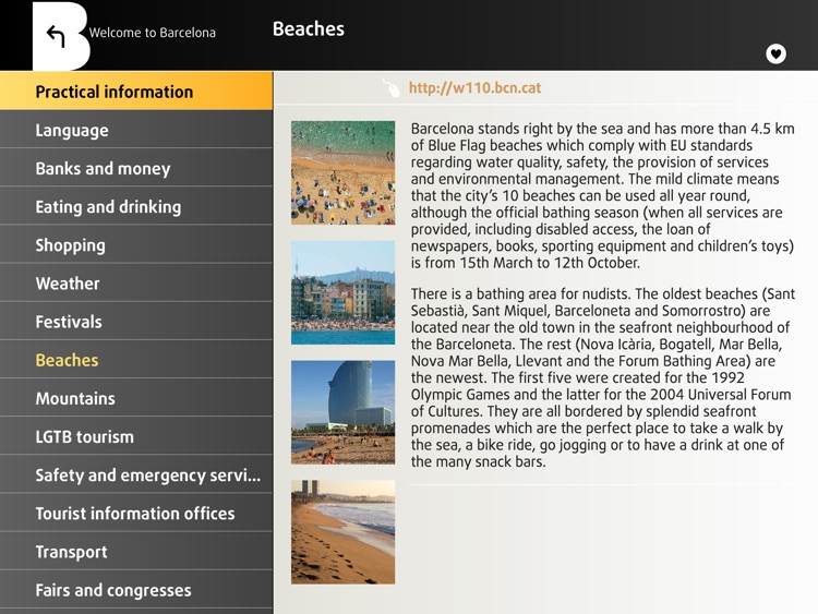 Barcelona Official Guide iPad. The city of Gaudí
