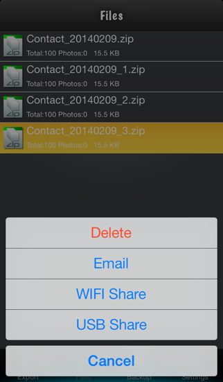 Contacts to Excel Liteのスクリーンショット5