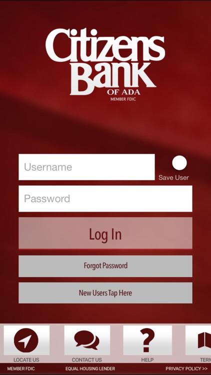 Citizens Bank of Ada for iPhone