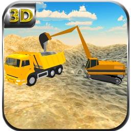 Sand Transporter Truck & Excavator Simulator