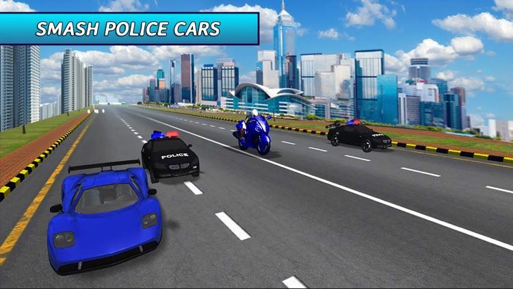 Extreme Motorbike Ride: Police Pursuit Race