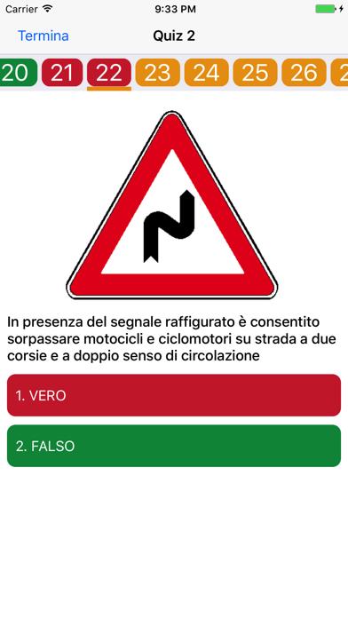 Screenshot of Quiz Patente di Guida 2017 Gratis1