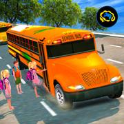 高中公共汽车驾驶 - 停车模拟器3D