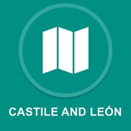 Castile and Leon, Spain : Offline GPS Navigation
