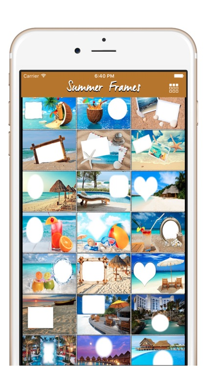 Summer Photo Frames & Sunny Beach Pictures Frames by Ankur Chauhan