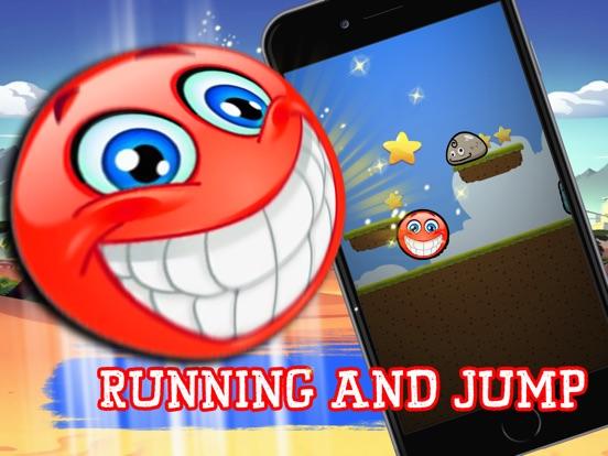 Super Red Ball Physics : jump spikes bouncing-ipad-1