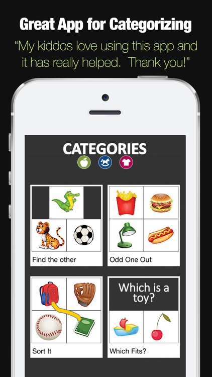 Categories - Categorization Skill Development App