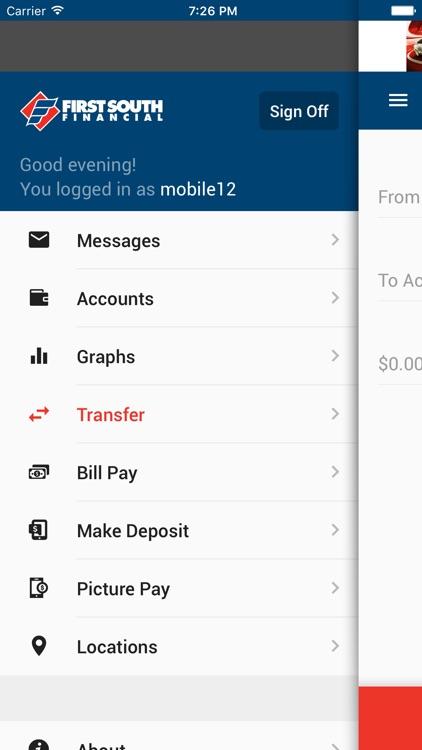 FIRSTSOUTH Mobile Banking screenshot-3