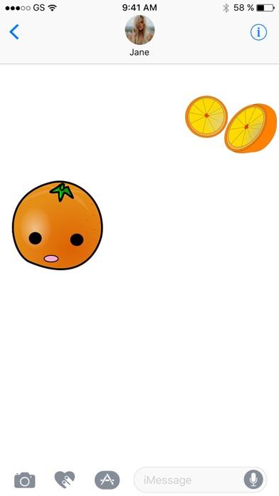 鮮橙貼紙包屏幕截圖2