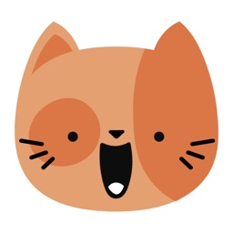 Orange Kitty Cat Face Emojis Sticker Pack