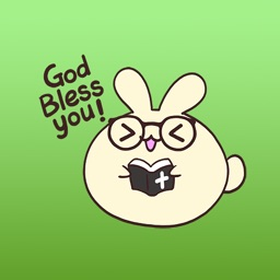 Fluffy The Funniest Rabbit Stickers