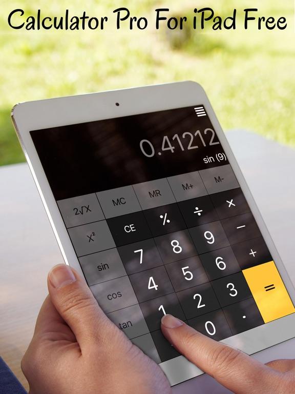 Screenshot 1 For Calculator Pro Ipad Free