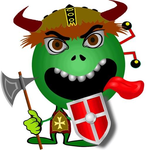 Emoji Smiley Green Alien Stickers