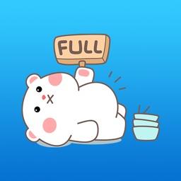 Turbo The Fat White Bear Sticker