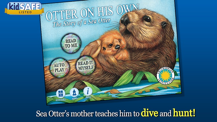 Otter on His Own - Smithsonian Oceanic Collection