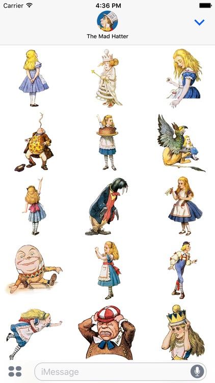 Alice's Adventures in Wonderland Stickers