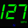 JustSpeed large GPS speedometer with H.U.D. Option