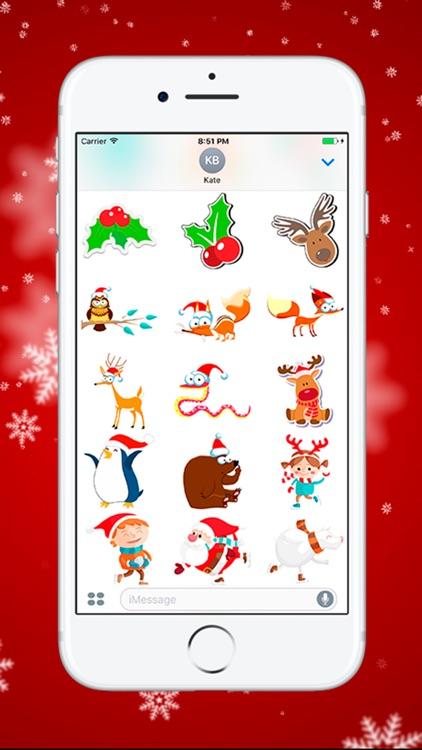 Рождество и Новый Год - стикеры для iMessage screenshot-3