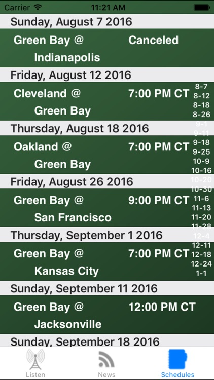 Green Bay Football - Radio, Scores & Schedule screenshot-3