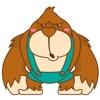 Goola, the funny big gorilla for iMessage Sticker