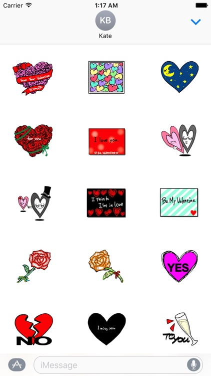 Valentine Day Cards Stickers Pack