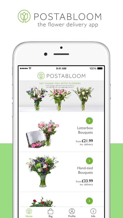 Postabloom: Fresh Flowers. Free UK Delivery screenshot-0