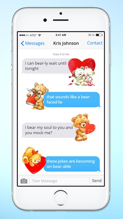 Teddy Bear Birthday and Love Sticker Pack screenshot-1