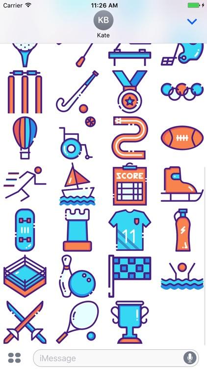 SportsMoji - All Sports Stickers screenshot-3