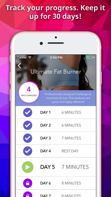 Fit30- At Home Workouts 30 Day Exercise Challenges