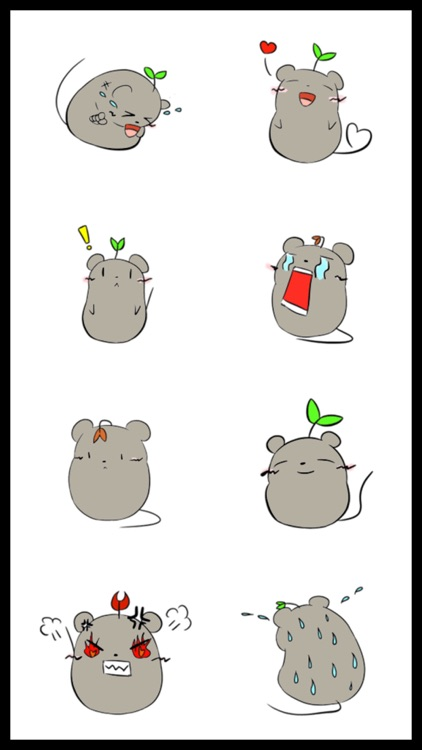 Grey Mousy Stickers