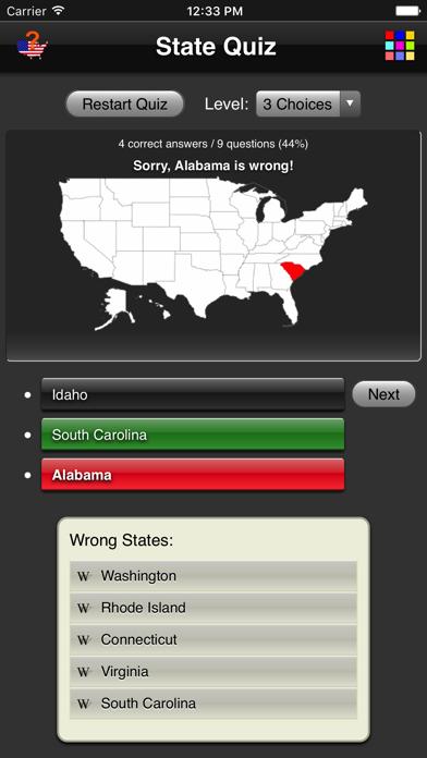 State Quiz screenshot three