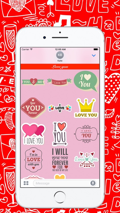 """""""Love"""" - Stickers for iMessage screenshot-3"""
