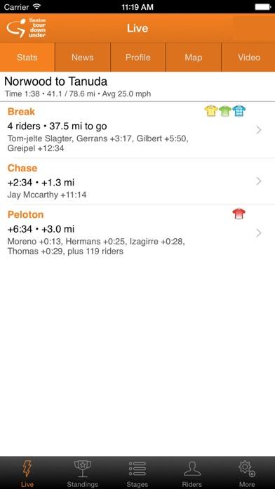 Santos Tour Down Under Tracker screenshot three