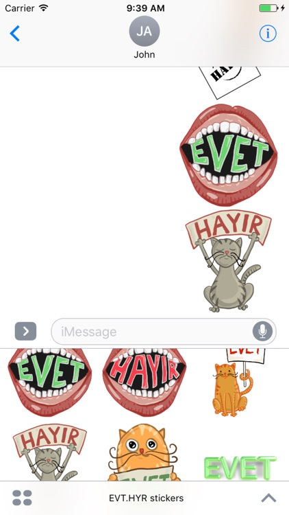 EvetHayır Stickers