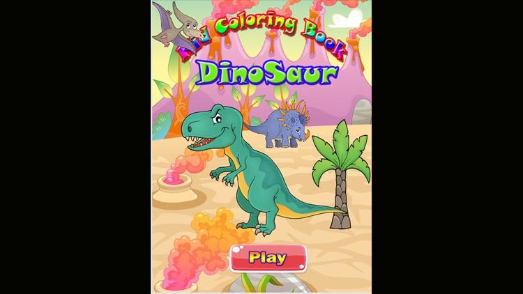 Dinosaur kid Coloring Book Game screenshot-3