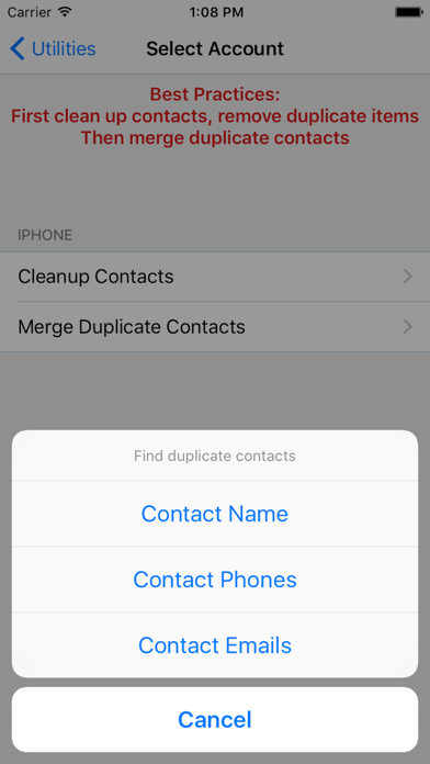 ZXContacts - Smart Contacts & Groups Manager Screenshot on iOS