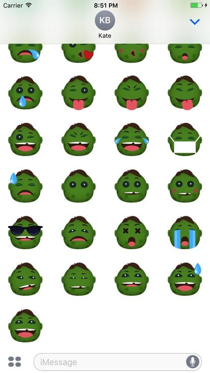 ZombieMoji - Stickers of the Dead screenshot-3